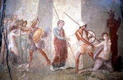 House of Menander - Troy drags Cassandra.JPG
